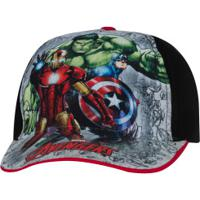 Boné Infantil Cm Imports Marvel Avengers - Cinza/Preto
