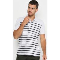 Camisa Polo Burn Listrada Masculina - Masculino-Mescla