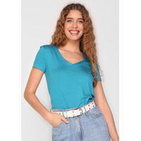 Blusa Malwee Flocada Azul