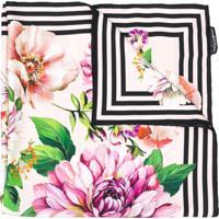 Dolce & Gabbana Floral Print Silk Scarf - Rosa
