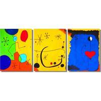 Quadropainel Decorativo Releitura Quadros De Joan Miro A Mão