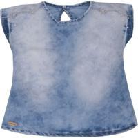 Blusa Jeans Estonada - Azul- Sonho Mã¡Gicosonho Mã¡Gico