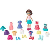 Boneca Polly Pocket Morena - Polly Pronta Para A Festa - Mattel