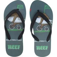 Chinelo Reef Calif Preto/Verde
