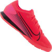 Chuteira Futsal Nike Mercurial Vapor 13 Pro Ic - Adulto - Coral/Preto
