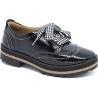 Sapato Oxford Dakota Feminino - Feminino-Preto