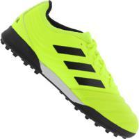 Chuteira Society Adidas Copa 19.3 Tf - Adulto - Amarelo Fluor