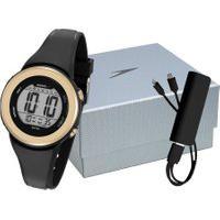 Kit De Relógio Digital Speedo Feminino + Powerbank - 81152L0Evnp1K1 Dourado
