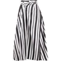 Sacai Striped-Print Crossover Skirt - Preto