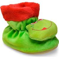 Pantufa Uni Infantil Ferpa 49 Sapinho Verde/Vermelho