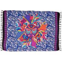 Canga Shopping Bali Mandala Coruja - Feminino-Azul