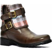 Bota Atron Shoes Feminina Com Cano Dobavél - Feminino-Marrom
