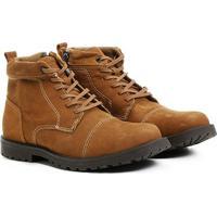 6b07ca8a1 Netshoes; Bota Couro Coturno West Coast Winston Hi Masculina - Masculino-Marrom  Claro