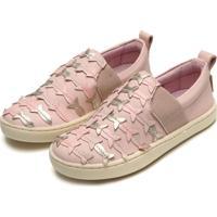 Tênis Couro Tip Toey Joey Menina Little Sneaker Reef Rosa