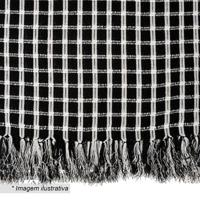 Manta Black & White Italiana- Preta & Branca- 140X14Artesanal