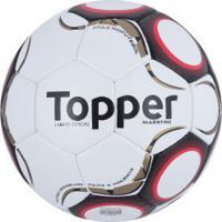 9d5f845535 Bola De Futebol De Campo Topper Maestro Td1 - Branco Vermelho