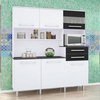 Cozinha Compacta Suprema 6 Pt 2 Gv Branco E Preto