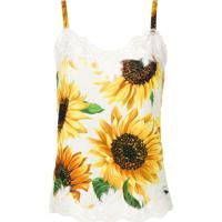 Dolce & Gabbana Underwear Blusa Sunflower De Seda - Amarelo