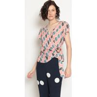 Blusa Abstrata- Rose- Operateoperate