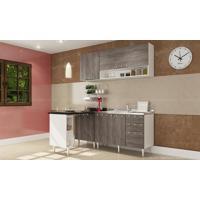 Cozinha Modulada Completa Com 5 Módulos Branco/Rústico - Art In Móveis