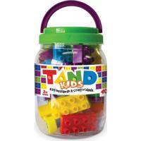 Pote Com Blocos De Montar Tand Kids - 40 Peças - Toyster