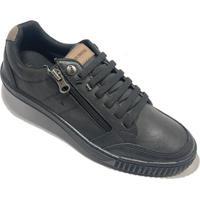 Sapatênis Ped Shoes Casual Masculino - Masculino-Preto+Cinza