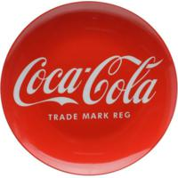 Jogo 2 Pratos Porcelana Sobremesa Coca-Cola Logo Vermelho