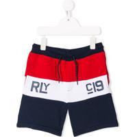Ralph Lauren Kids Short Listrado - Vermelho