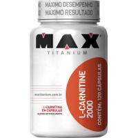 Termogênico Max Titanium L-Carnitina 2000 - 120 Cápsulas