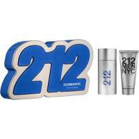 Kit 212 Men Nyc Eau De Toilette Carolina Herrera Perfume Masculino 100Ml + Gel De Banho Kit - Unissex