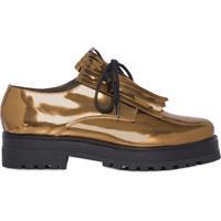 Sapato Oxford Metalizado - Dourado