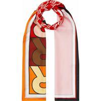 Burberry Echarpe Com Estampa De Logo - Rosa