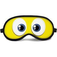 Máscara De Dormir Tritengo Smile - Unissex-Amarelo