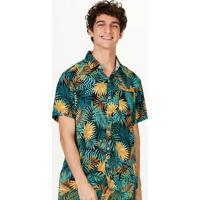 Camisa Masculina Comfort Em Viscose Estampada