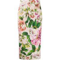 Dolce & Gabbana Saia Lápis Com Estampa Floral - Rosa