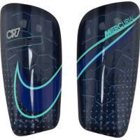 Caneleira De Futebol Nike Cr7 Mercurial Lite Grd - Adulto - Azul Escuro