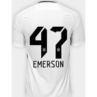 5c0601e1548a0 Netshoes  Camisa Corinthians I 17 18 Nº 47 Emerson - Torcedor Nike  Masculina - Masculino