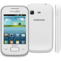 """Smartphone Samsung Galaxy Y Duos Gt-S5303 Branco - Dual Chip - Câmera 2Mp - Tela 2.8"""" - Android 4.0"""