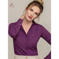 Camisa Social Violeta Personalizada