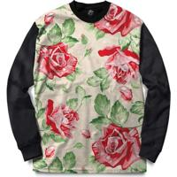Blusa Bsc Red Roses Full Print - Masculino