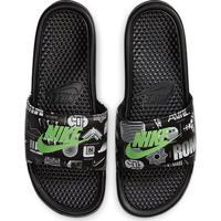 Chinelo Nike Benassi Jdi Print Masculino - Masculino-Grafite+Branco