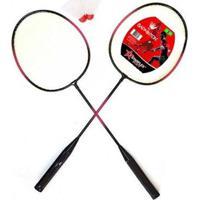 Kit Badminton Starflex Sports 2 Raquetes + 2 Petecas - Unissex