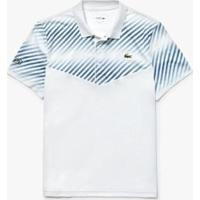 Camisa Polo Lacoste Sport Piqué Tecnológico Com Listras Sombreadas - Masculino