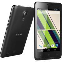 "Smartphone Cce Motion Plus Sc452Tv - Dual Chip - Tv Digital - 3G - Wi-Fi - Tela De 4.5"" - Dual Core - 4Mp - Android 4.2 - Preto"