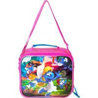 Lancheira Infantil Smurfs®- Rosa & Azul Claro- 20X22Santino