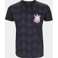 Camiseta Corinthians Paulista Masculina - Masculino-Preto