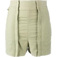 Chloé Shorts Cintura Alta - Verde