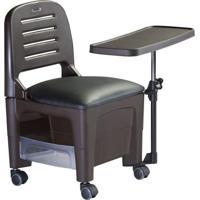 Cadeira De Manicure E Esmalteria Bari Com Mesa Preta Dompel