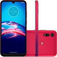 Smartphone Motorola Moto E6S 32Gb 2Gb Ram Nacional Vermelho Magenta
