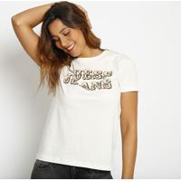 "Blusa ""Guessâ® Jeans""- Off White & Laranja- Guessguess"